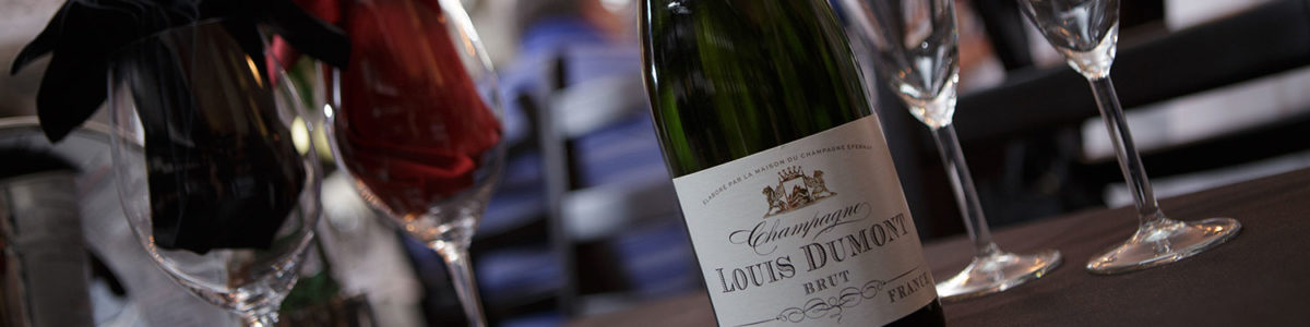 Bottle of Louise Dumont champagne.